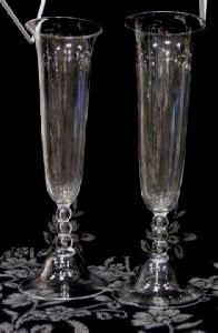 20131  USA ESTATE MATCHED PAIR OF STUEBEN VASES -SIGNED ON THE BOTTEM OF EACH $25,000 for pair or best offer - free ship worldwi