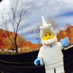Unicorn girl enjoying the redrock of the Tuacahn Center for the Arts in Ivins, Utah!