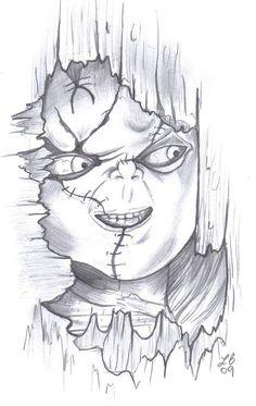 dibujos de chucky el muñeco diabolico para colorear - Buscar con Google