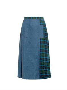 Tartan-panel cotton skirt | Yohji Yamamoto Regulation | MATCHE...