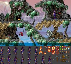 """Amiga game concept """"Magic"""" (working title) Created the ingame tilesets and animation assets for our playable demo Game Concept, Pixel Art, Game Art, Art Museum, Animation, Magic, Games, Create, Ideas"""