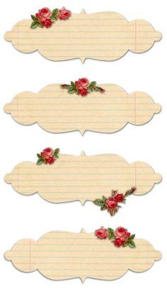 Free Printable Vintage Rose Labels by jami
