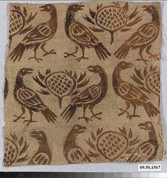 Painted Linen!  Date:      12th century  Culture:      German (Rhine)  Medium:      Linen