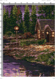 Cross Stitch Tree, Cross Stitch Flowers, Wood Burning Patterns, African Art, Pixel Art, City Photo, Embroidery, Landscape, Nature