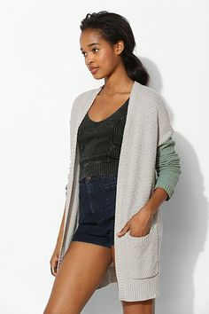 BDG London Patterned Open-Front Cardigan - Urban Outfitters