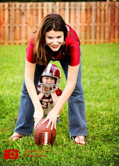 Self portrait with my little football player!  Roll Tide!