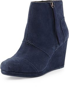 Toms Desert Suede #Wedge Boot #wedgeWednesday