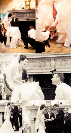 The groom washed the brides feet at the ceremony!