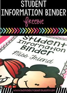 Keeping all of your documentation organized is much easier with this student information binder freebie!