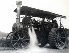 Motor a vapor Steam Tractor, Steamers, Steam Engine, Locomotive, Planes, Trains, Times, Retro, Old Tractors