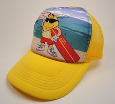 af0359e97 Yellow M amp M Candy Surfing Mesh Foam Trucker Style Snap-Back Hat Sea