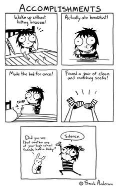 Sarah see andersen Sarah Anderson Comics, Sara Anderson, Funny Shit, The Funny, Hilarious, Funny Stuff, Cute Comics, Funny Comics, Girls Problems