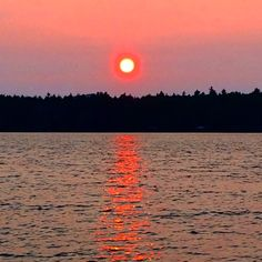Sunset over the Great Sacandaga Lake, New York