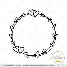 Monogram Wedding, Monogram Letters, Laurel Wreath, Cricut Creations, Cricut Vinyl, Svg Cuts, Cutting Files, Clip Art, Wreaths