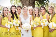 Yellow Bridesmaid Dresses J. Crew lace