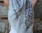 Spring Floral Lace Scarf Cowl Scarf Bridal Accessories Bridesmaid Gift Gift Ideas For Her Women Fashion Accessories Mother's Day Gift