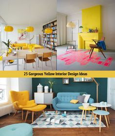 25 Gorgeous Yellow Interior Design Ideas - http://www.interiordesign2014.com/home-design-ideas/25-gorgeous-yellow-interior-design-ideas/