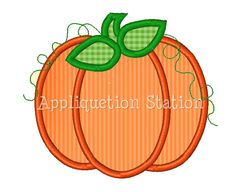 Pumpkin Fall Applique Machine Embroidery by AppliquetionStation, $3.50