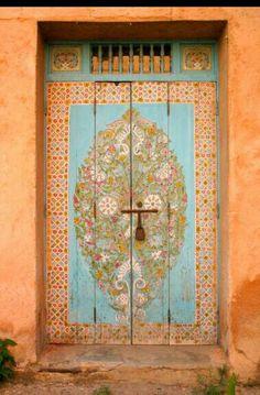 Antique door.Istanbul.Turkey