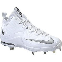 Nike Max Air Mvp Elite 2 3/4 Metal Baseball Cleats Spikes Sz 10.5 White / Silver Softball Cleats, Metal Baseball Cleats, Baseball Gear, Air Max Sneakers, Sneakers Nike, Nike Max, Spikes, Training, Silver