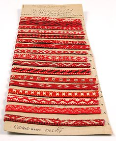 Suomen käsityön museo, Liisa Korhonen Inkle Weaving, Tablet Weaving, Textile Patterns, Textiles, Lappland, Inspiring Things, How To Purl Knit, Finland, Knits