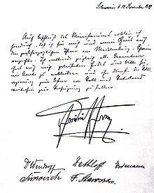 Atto di abdicazione di Federico Francesco IV di Meclemburgo-Schwerin