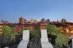 115 Allen Street - Apt: PHA Manhattan, Lower East Side: 4-Bedroom Penthouse with sweeping 360-degree views, 3 spectacular terraces and a private roof deck with Jacuzzi and self-irrigating garden. This top of the line penthouse, built by the developer of the building, includes a loft-like living room with wood-burning fireplace, drop-down movie player/screening room and American Cherry floors