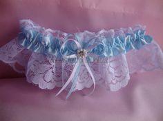 Wedding garter, lace garter, Blue garter, bridal garter, prom garter #weddings