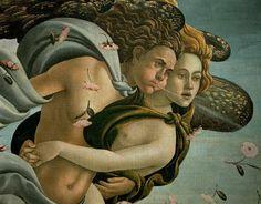 The Birth of Venus (detail) by BOTTICELLI, Sandro #art