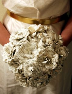 Paper Wedding bouquet Alternative bouquet by TheFlowerGirlAtlanta, $25.00