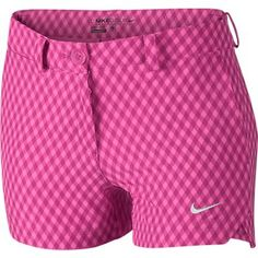 Pink Pow/Hot Pink Nike Junior Girls Gingham Golf Shorts at Girls Golf, Ladies Golf, Junior Golf Clubs, Cute Golf Outfit, Court Dresses, Golf Club Sets, Golf Attire, Golf Wear, Tennis Clothes