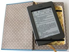 Upcycled book made into a Kindle case.