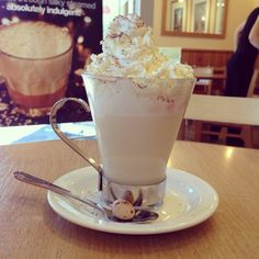 """See 6 photos and 6 tips from 71 visitors to Cafe Treff. """"The white hot choc is amazing! Cumbria, Glass Of Milk, Restaurant, Canning, Drinks, Eat, Desserts, Food, Cafes"""
