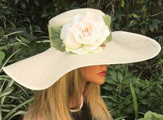 Wide Brim Hat. Wedding Hat Kentucky Derby Hat. by AwardDesign