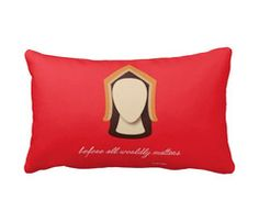 Hello History's Katherine of Aragon 14x20 accent pillow.