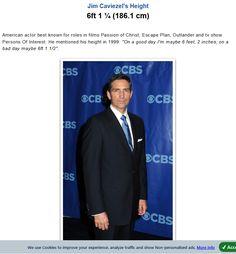 Screenshot: Jim Caviezel Height - How tall Jim Caviezel, Jesus Christ, Blessed, Peace, Actors, Sobriety, World, Actor