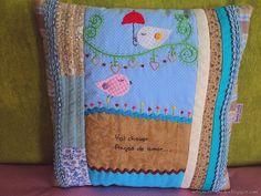 Almofada em patchwork - Vai chover...