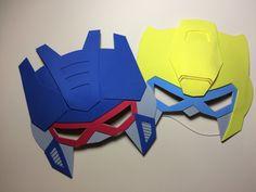 Mascaras em EVA - tema transformers                                                                                                                                                                                 Mais