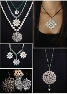 Jewellery made from vintage lace. Sien C Designs