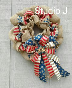 Hey, I found this really awesome Etsy listing at https://www.etsy.com/listing/466570271/patriotic-red-white-and-blue-burlap