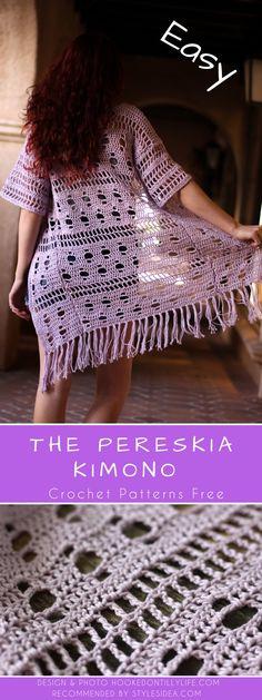 The Pereskia Kimono Crochet Pattern Free #crochetPatternsfree