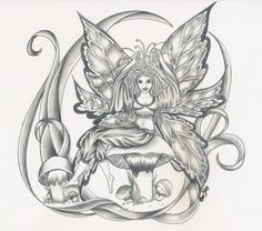 Fantasy Coloring Pages for Adults | SciFi/Fantasy Picture 32 out of 37 by Miranda ´Eve´ Day ...