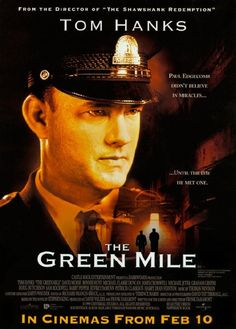The Green Mile such a moving and emotional story. John coffee is so cute you can tell he is no criminal :) I sobbed my eyes out when I first saw this film. Such a believeable film