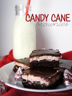 Candy Cane Brownies - an easy dessert for your next Christmas Party!