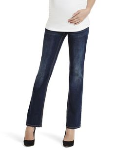 The boot cut   secret fit belly 5 pocket skinny boot maternity jean by Jessica Simpson available at Destination Maternity