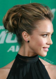 Hair up style , updo with volume