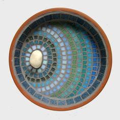 Moonlight Ripple Mosaic Bird Bath Garden Ornament. £30.00, via Etsy.
