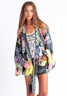 Colombian Kimono by One Teaspoon #threadsence #fashion #musicfestival