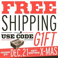 FREE SHIPPING. GET GIFTS! ORDER by DEC. 21. GET IN TIME. #made2makeit #diyprintshop #diyscreenprinting