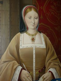 Detail of a modern portrait of Katherine of Aragon Uk History, Asian History, Tudor History, British History, History Facts, Anne Of Cleves, Anne Boleyn, Historical Women, Historical Photos